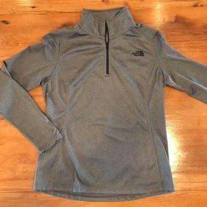Grey North Face Quarter Zip Pullover